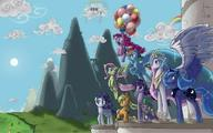 Applejack Celestia Fluttershy Luna My_Little_Pony Pinkie_Pie Rainbow_Dash Spike Twilight_Sparkle rarity // 1600x1000 // 159.9KB