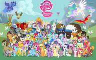 Angel Apple_Bloom Applejack Bon_Bon Celestia Fluttershy Luna Lyra My_Little_Pony Pinkie_Pie Rainbow_Dash Scootaloo Spike Sweetie_Belle Trixie Twilight_Sparkle Zecora rarity // 1920x1200 // 293.0KB