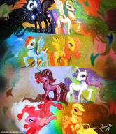 Applejack Celestia Fluttershy Luna My_Little_Pony Pinkie_Pie Rainbow_Dash Twilight_Sparkle rarity // 887x1028 // 138.3KB