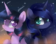 Luna My_Little_Pony Twilight_Sparkle // 906x715 // 51.0KB