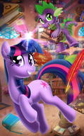 My_Little_Pony Spike Twilight_Sparkle // 743x1200 // 117.0KB
