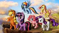 Applejack Fluttershy My_Little_Pony Pinkie_Pie Rainbow_Dash Twilight_Sparkle rarity // 1199x666 // 91.8KB