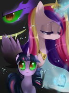 Cadence King_Sombra My_Little_Pony Twilight_Sparkle // 900x1200 // 83.1KB