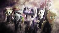 Applejack Fluttershy My_Little_Pony Pinkie_Pie Rainbow_Dash Twilight_Sparkle rarity // 1920x1080 // 160.7KB