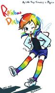 Humanization My_Little_Pony Rainbow_Dash // 700x1181 // 86.6KB