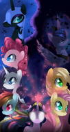 Applejack Fluttershy Luna My_Little_Pony Pinkie_Pie Rainbow_Dash Twilight_Sparkle rarity // 900x1700 // 133.9KB